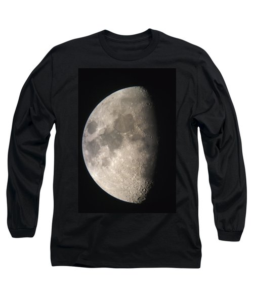 Long Sleeve T-Shirt featuring the photograph Moon Against The Black Sky by John Short