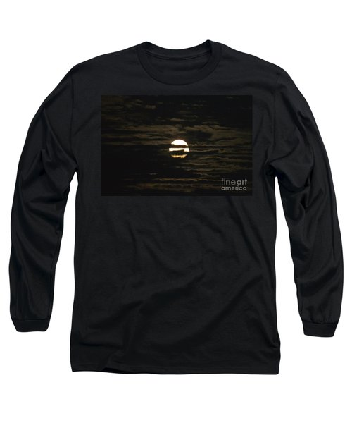 Long Sleeve T-Shirt featuring the photograph Moon Behind The Clouds by William Norton