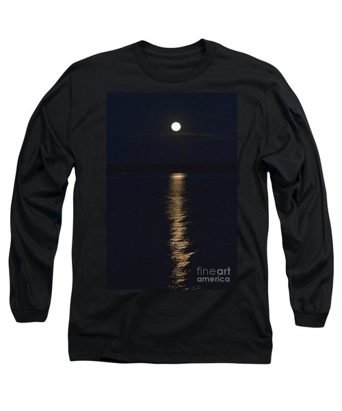Long Sleeve T-Shirt featuring the photograph Moon Over Seneca Lake by William Norton