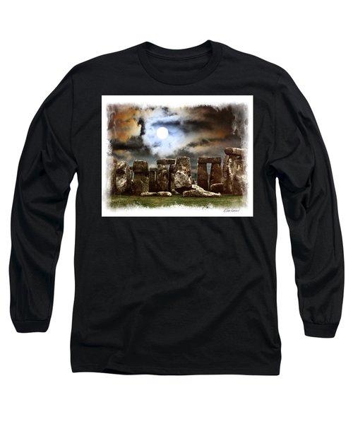 Moon Over Stonehenge Long Sleeve T-Shirt