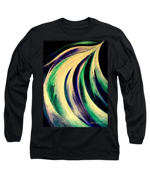 Moonlight In Water Fall Long Sleeve T-Shirt