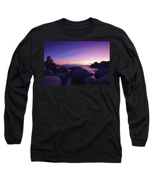 Moonrise Over Tahoe Long Sleeve T-Shirt