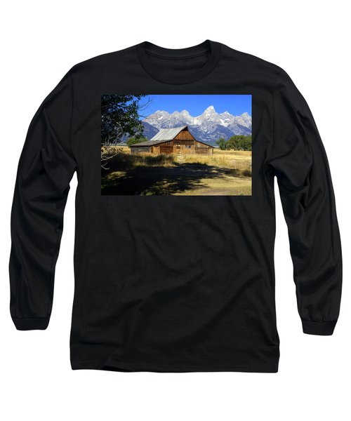Long Sleeve T-Shirt featuring the photograph Mormon Row Barn by Marty Koch