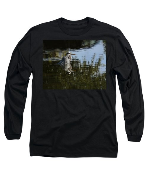 Long Sleeve T-Shirt featuring the photograph Morning Bath by Steven Sparks