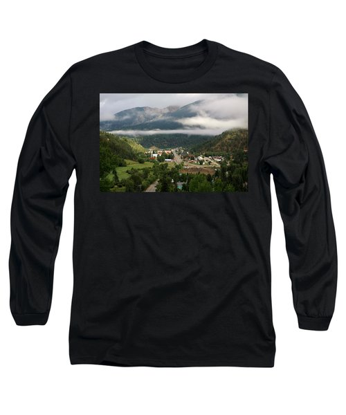 Morning Clouds Over Red River Long Sleeve T-Shirt