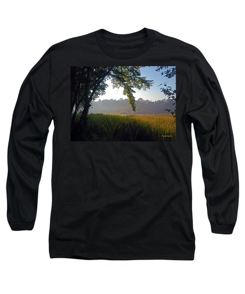 Long Sleeve T-Shirt featuring the photograph Morning On The River by Kay Lovingood