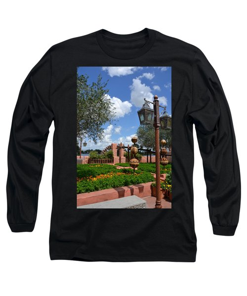 Moroccan Garden I Long Sleeve T-Shirt by Bonnie Myszka
