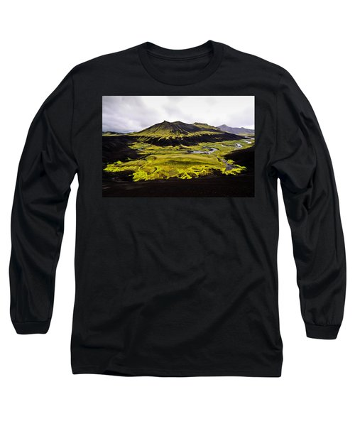 Moss In Iceland Long Sleeve T-Shirt