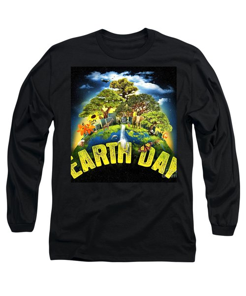 Mother Earth Long Sleeve T-Shirt by Pg Reproductions
