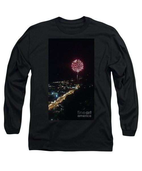 Long Sleeve T-Shirt featuring the photograph Mountain Fireworks by Janice Spivey