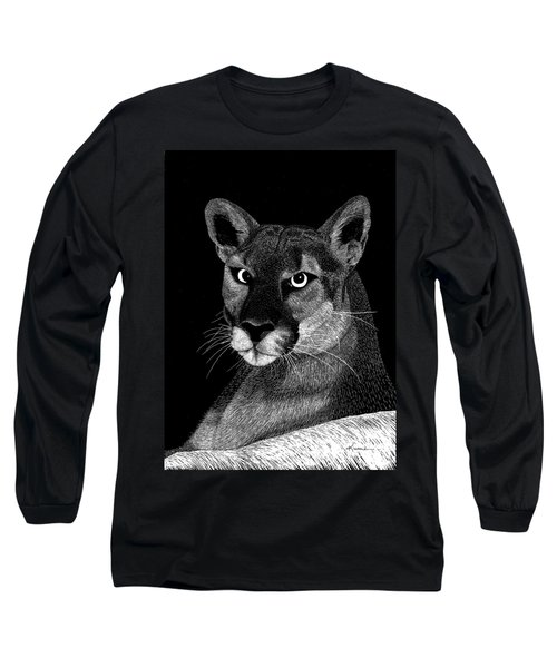 Mountain Lion Long Sleeve T-Shirt by Kume Bryant