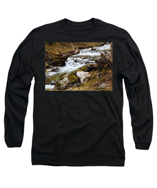 Long Sleeve T-Shirt featuring the photograph Mountain Stream by Les Palenik