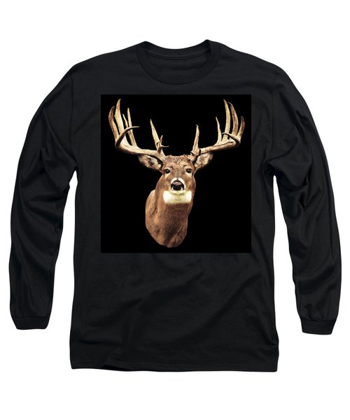 Mule Deer Head Long Sleeve T-Shirt
