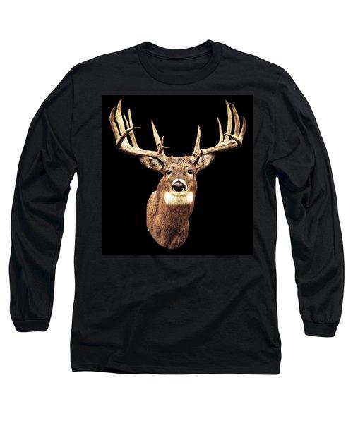 Mule Deer Head Long Sleeve T-Shirt