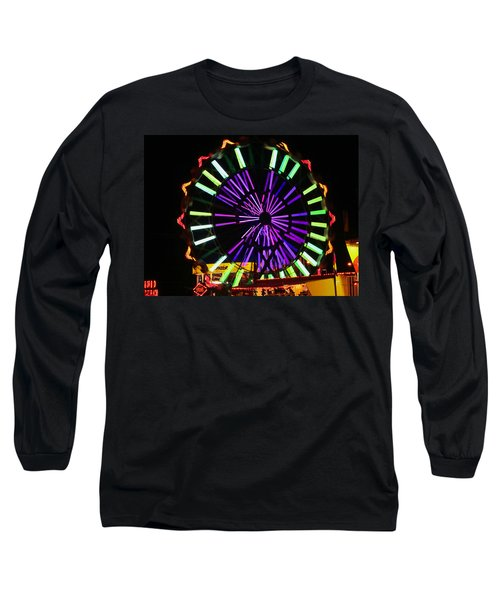 Long Sleeve T-Shirt featuring the photograph Multi Colored Ferris Wheel by Kym Backland