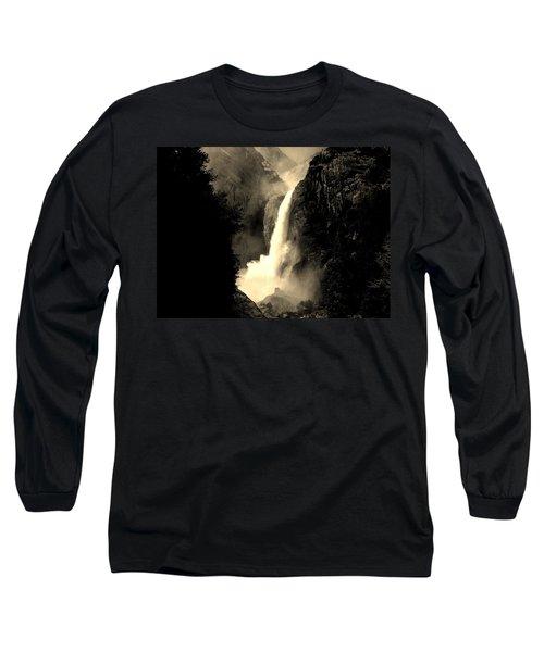 Mystery Falls Long Sleeve T-Shirt by Ellen Heaverlo