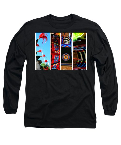 Slices Of Native American Heritage Long Sleeve T-Shirt by Toni Hopper
