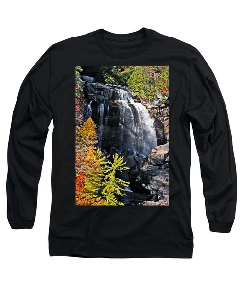 Nc Waterfalls Long Sleeve T-Shirt by Ronald Lutz