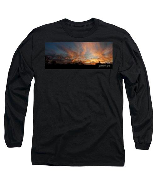 Nebraska Sunset Long Sleeve T-Shirt