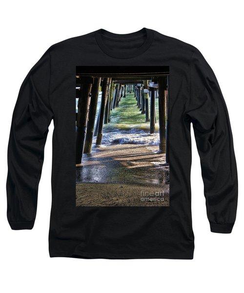 Neptune's Stairway Long Sleeve T-Shirt by Mariola Bitner
