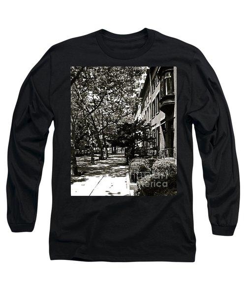 Long Sleeve T-Shirt featuring the photograph New York Sidewalk by Eric Tressler