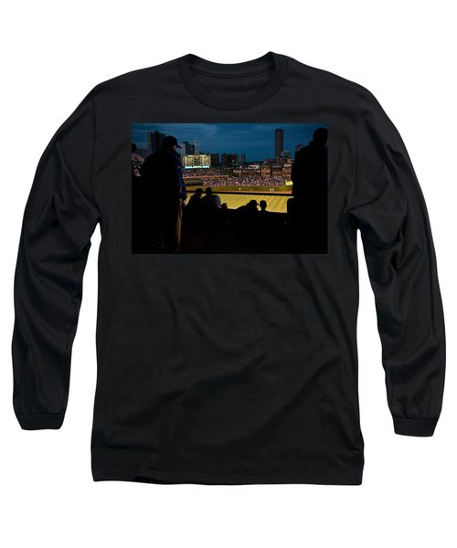 Night Game At Wrigley Field Long Sleeve T-Shirt