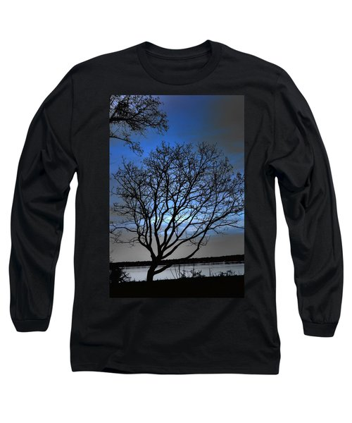 Night On The River Long Sleeve T-Shirt by Dan Stone
