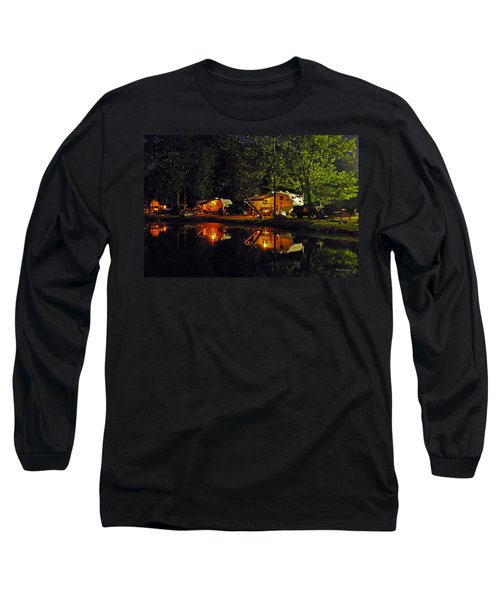 Nighttime In The Campground Long Sleeve T-Shirt by Kay Lovingood