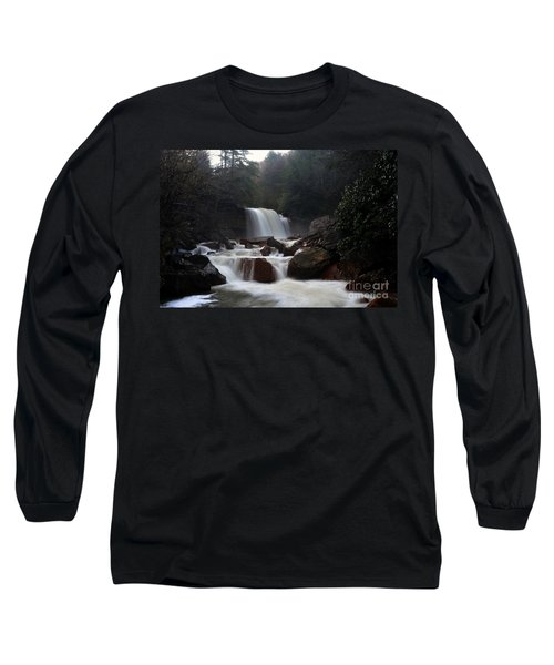 Long Sleeve T-Shirt featuring the photograph North Forks Waterfalls by Dan Friend