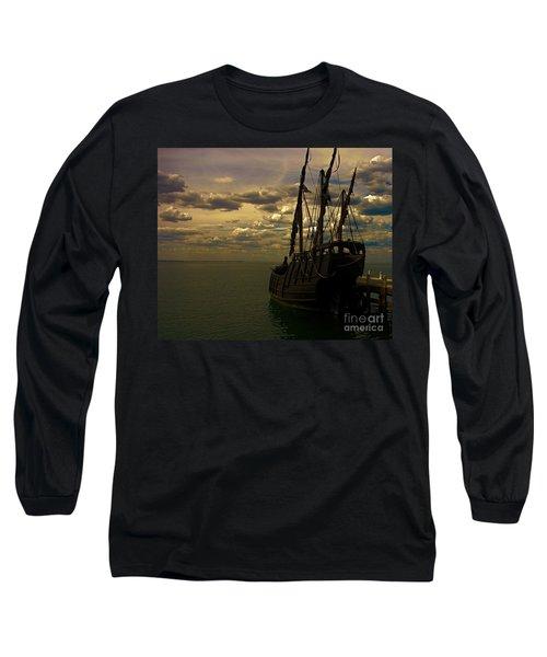 Notorious The Pirate Ship Long Sleeve T-Shirt by Blair Stuart