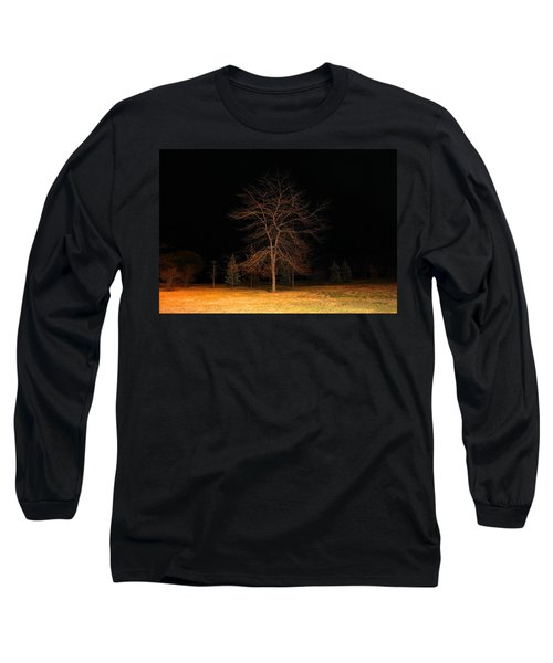 Long Sleeve T-Shirt featuring the photograph November Night by Milena Ilieva
