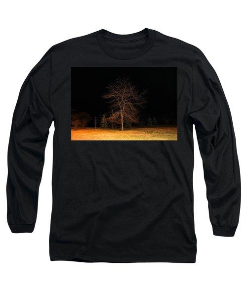 November Night Long Sleeve T-Shirt by Milena Ilieva