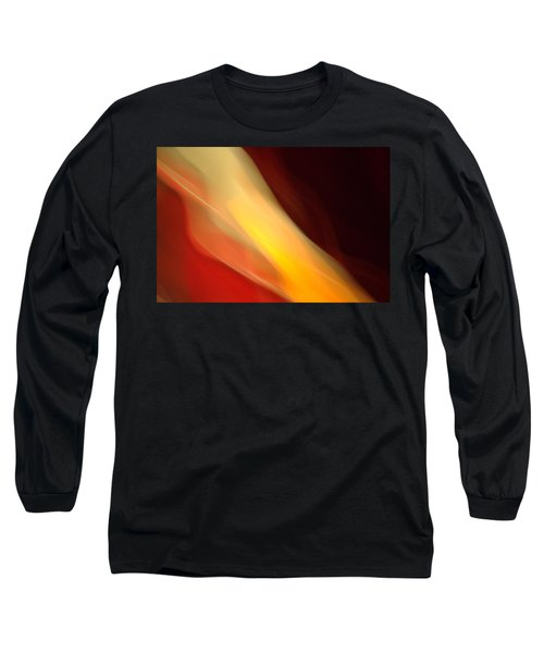Long Sleeve T-Shirt featuring the mixed media O'keefe Iv by Terence Morrissey