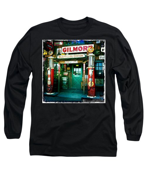 Old Fashioned Filling Station Long Sleeve T-Shirt