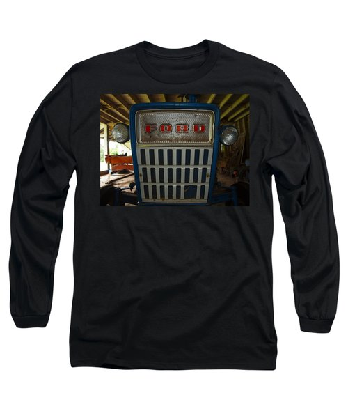 Old Ford Tractor Long Sleeve T-Shirt by Robert Margetts