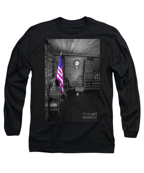 Long Sleeve T-Shirt featuring the photograph Old Glory by Deniece Platt