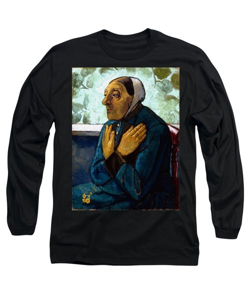 Old Peasant Woman Long Sleeve T-Shirt