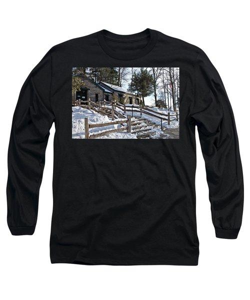 Old Rock Building  Long Sleeve T-Shirt by Susan Leggett