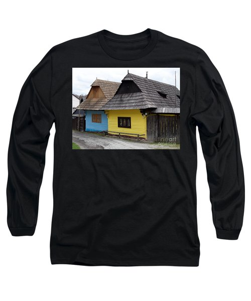 Long Sleeve T-Shirt featuring the photograph Old Wooden Homes by Les Palenik