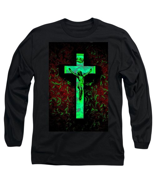 Long Sleeve T-Shirt featuring the photograph On The Cross by David Pantuso
