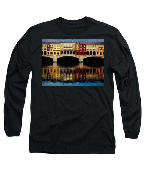 Long Sleeve T-Shirt featuring the photograph On The Lake by Tammy Espino