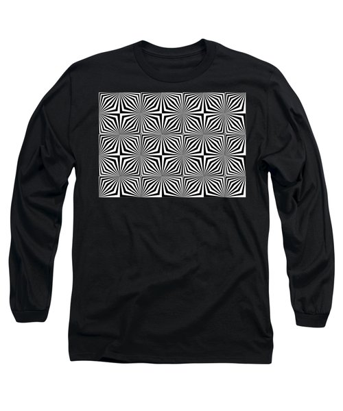 Optical Illusion Spots Or Stares Long Sleeve T-Shirt