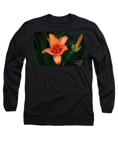 Long Sleeve T-Shirt featuring the photograph Orange Lily by Davandra Cribbie