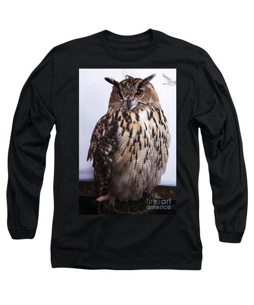 Orange Owl Eyes Long Sleeve T-Shirt