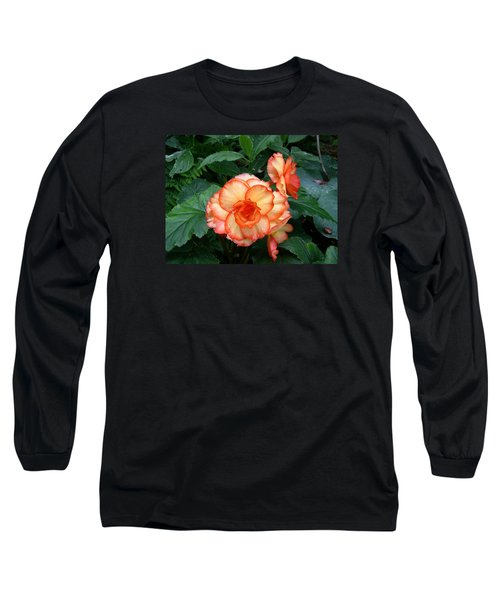 Long Sleeve T-Shirt featuring the digital art Orange Spectacular by Claude McCoy