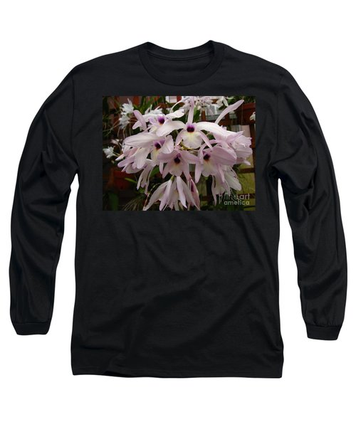 Long Sleeve T-Shirt featuring the photograph Orchids Beauty by Donna Brown