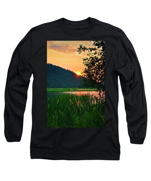 Long Sleeve T-Shirt featuring the photograph Pack River Delta Sunset 2 by Albert Seger