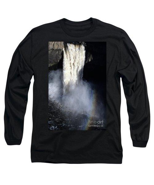 Palouse Falls Long Sleeve T-Shirt by Sharon Elliott