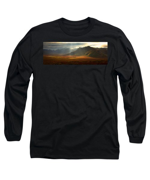 Panoramic Image Of The Cloudy Range Long Sleeve T-Shirt