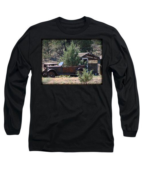 Parked At The Trading Post Long Sleeve T-Shirt by Athena Mckinzie